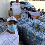 Donated 5 pallets of water partnered with the Lewisville Emergency Response Team