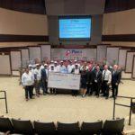 Team Dallas presented check of appreciation to Plano Police & Fire Department